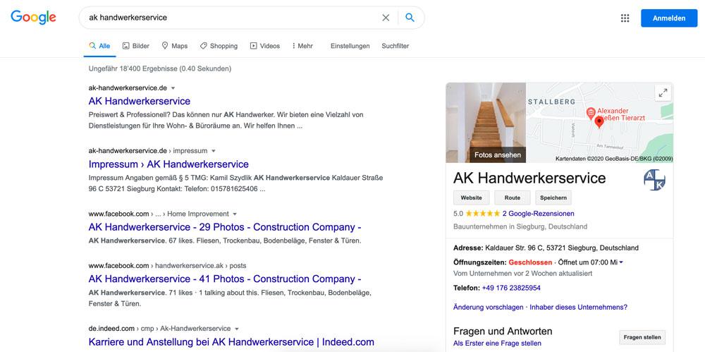 ak handwerkerservice suche - AK Handwerkerservice